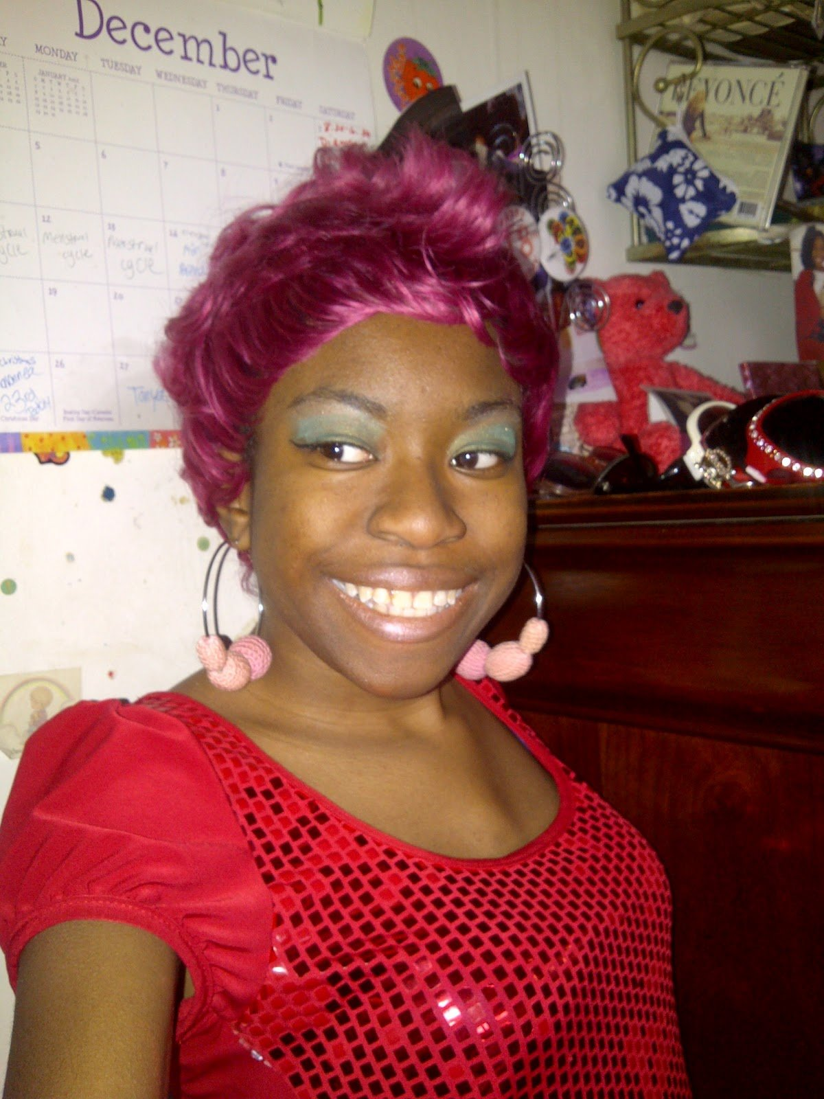 New Shaybeautie Fuchsia 27 Piece Mohawk Ideas With Pictures