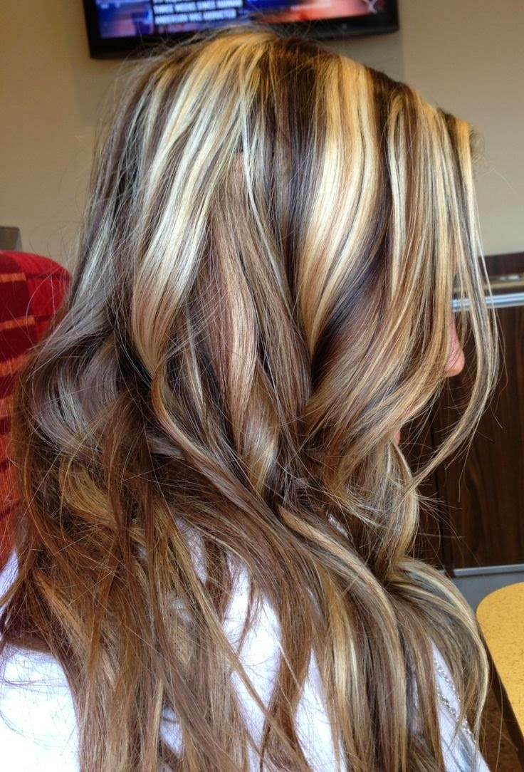 New Blonde Highlights With Black Lowlights Vqqlhw Long Ideas With Pictures