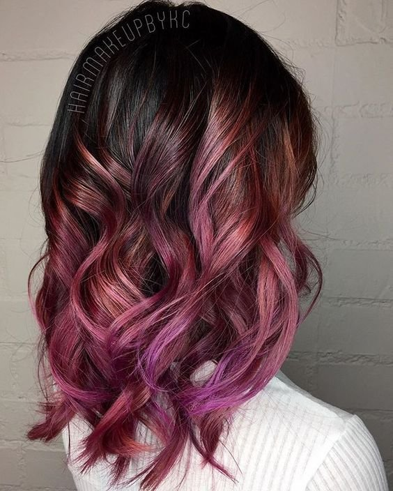 New Colored Tips Brown Hair With Colored Tips 2015 2016 Ideas With Pictures