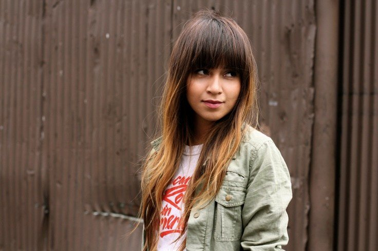 New Ombre Hair Straight Bangs Medium Hair Styles Ideas 10538332093 Ideas With Pictures