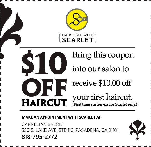 New Hair Salon Coupon Pasadena Ca Haircut Ideas With Pictures