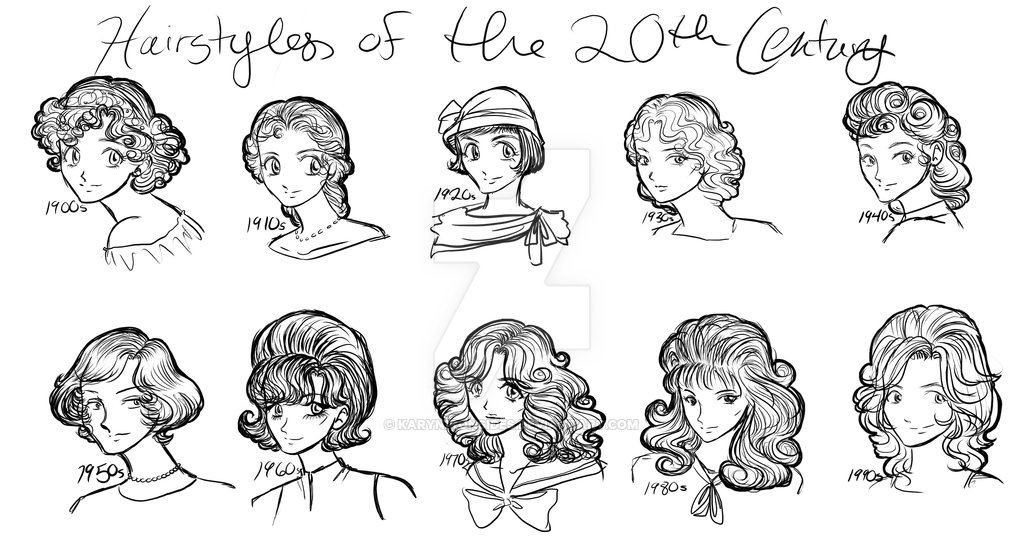 New Hairstyles Of The 20Th Century By Karynironsides On Deviantart Ideas With Pictures