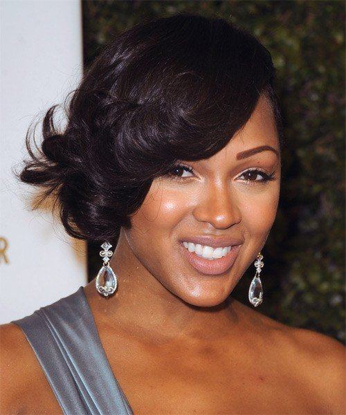 New Meagan Good Short Wavy Formal Hairstyle Black Hair Color Ideas With Pictures