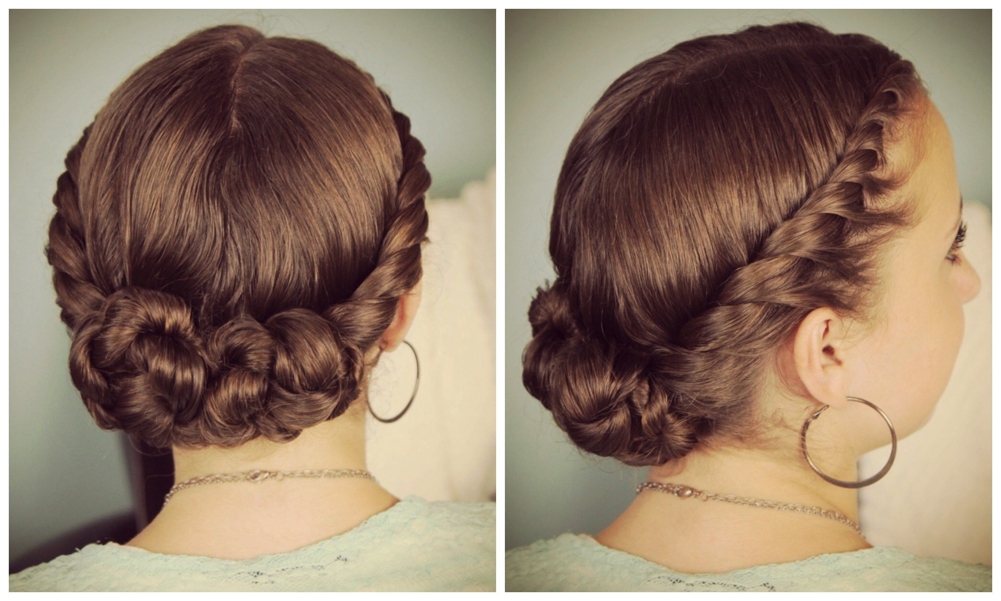 New Double Twist Bun Updo Homecoming Hairstyles Cute Girls Ideas With Pictures