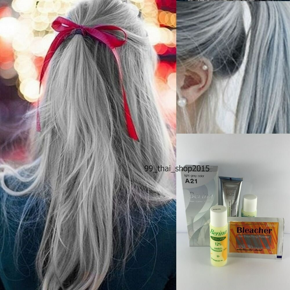 New Berina A21 Light Grey Permanent Hair Dye Color Cream Ideas With Pictures