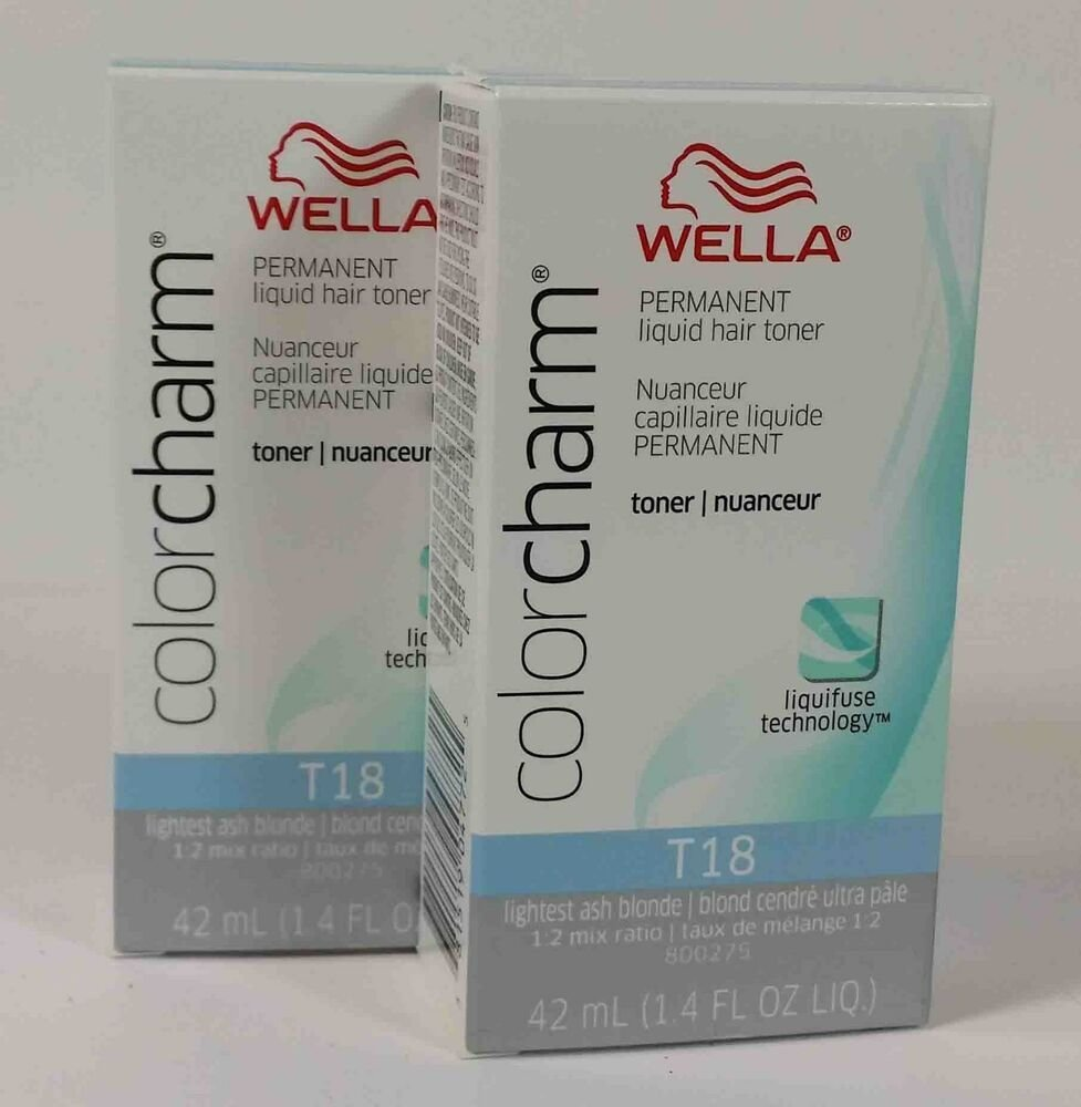 New 2Lot Wella Color Charm Permanent Hair Toner 1 4Oz Choice Color Ebay Ideas With Pictures