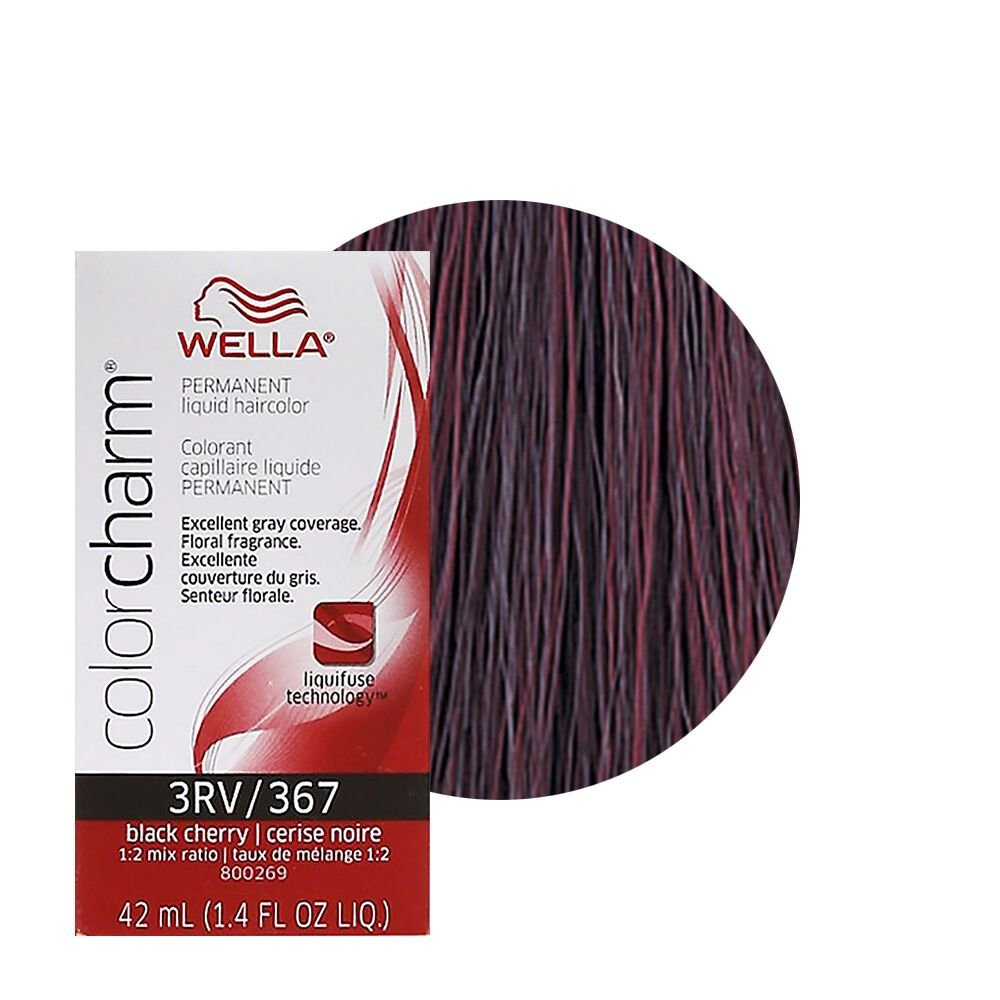 New Wella Color Charm Permament Liquid Hair Color 42Ml Black Cherry 367 3Rv Ebay Ideas With Pictures