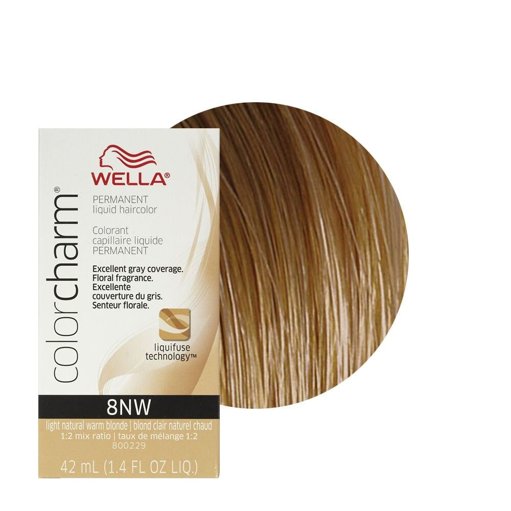 New Wella Color Charm Permament Liquid Hair Color 42Ml Light Natural Warm Blonde 8Nw Ebay Ideas With Pictures