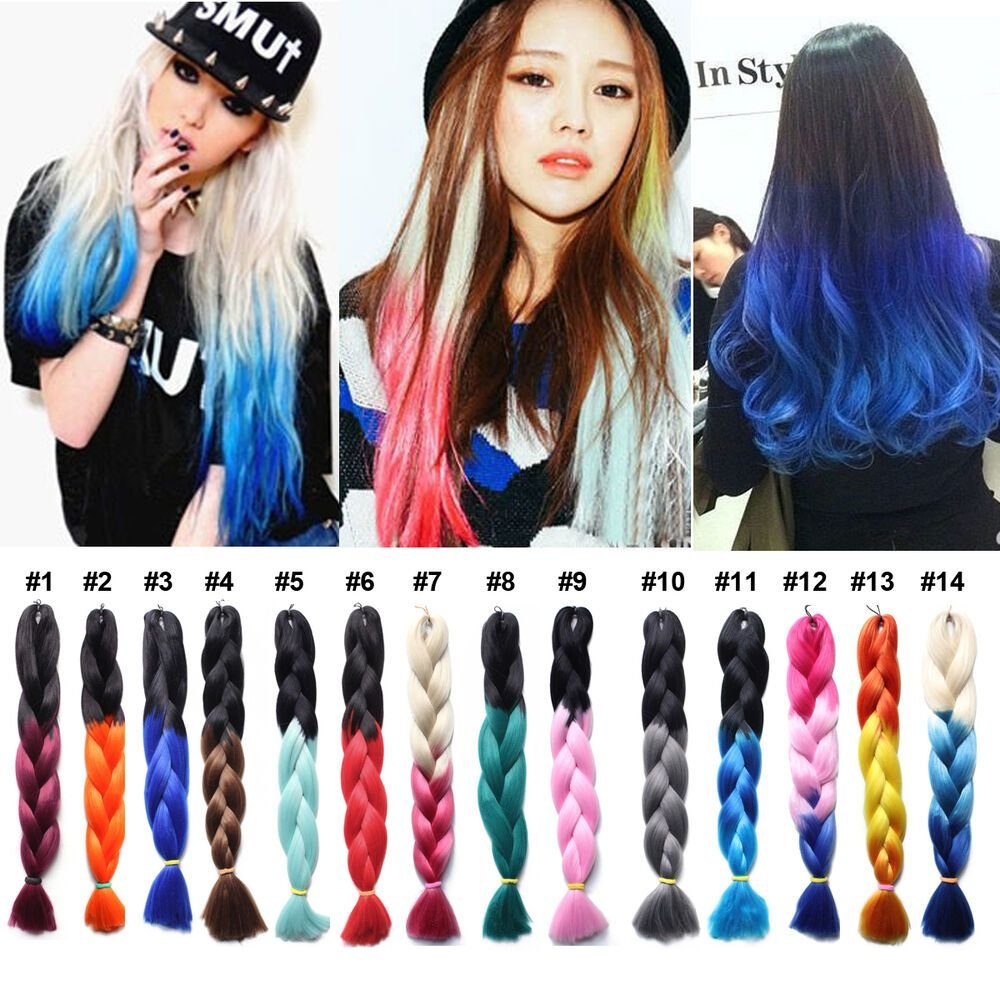 New 1Pcs Ombre Kanekalon Jumbo Braiding Hair Colors 24 Ideas With Pictures