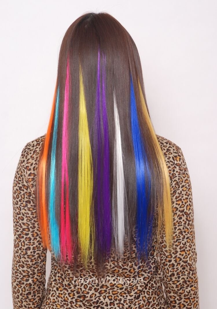 New 20 Long Solid Colored Clip On In Hair Extension For Ideas With Pictures