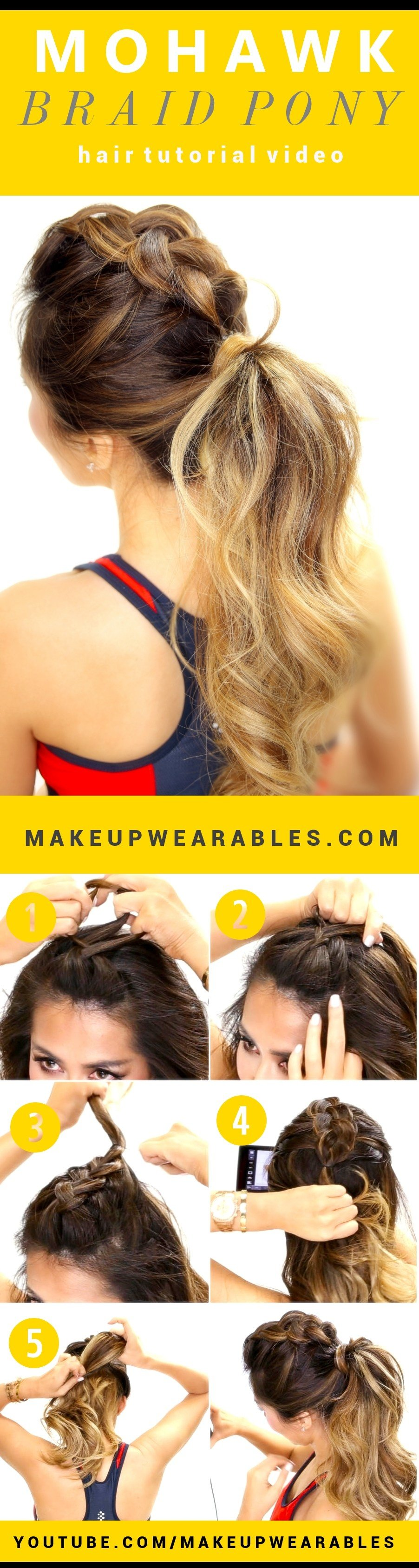 New Makeupwearables Hair Tutorial Videos Cute Mohawk Braid Ideas With Pictures