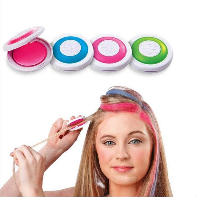 New 2Pcs 4 Colors Diy Dye Hair Powder Temporary Hair Chalk Ideas With Pictures