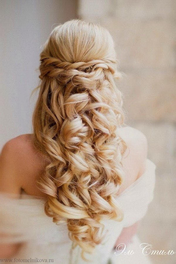 New Elegant Wedding Hairstyles Half Up Half Down Tulle Ideas With Pictures