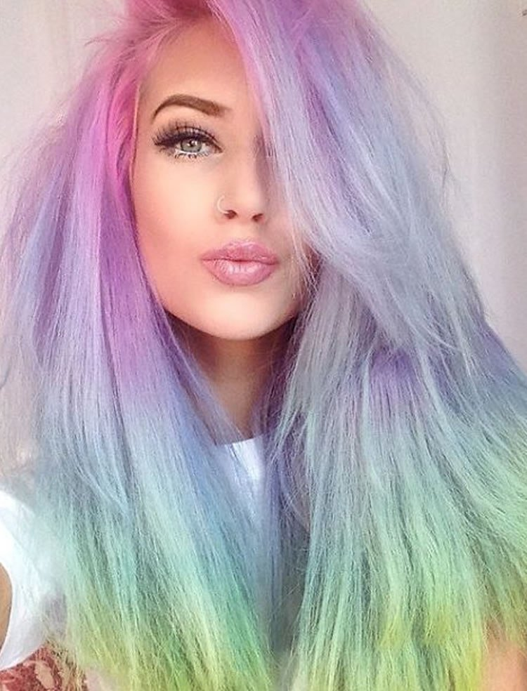New 51 Colorful Hairstyles Tutorials For Charming Ladies 2017 Ideas With Pictures