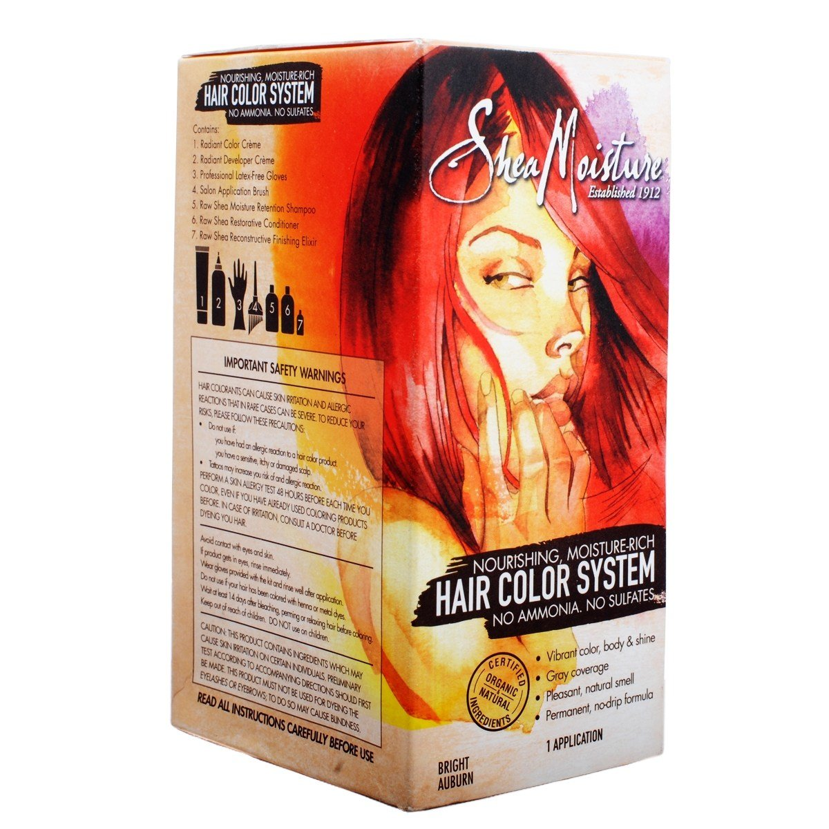 New Shea Moisture Hair Color System Bright Auburn Olori Ideas With Pictures