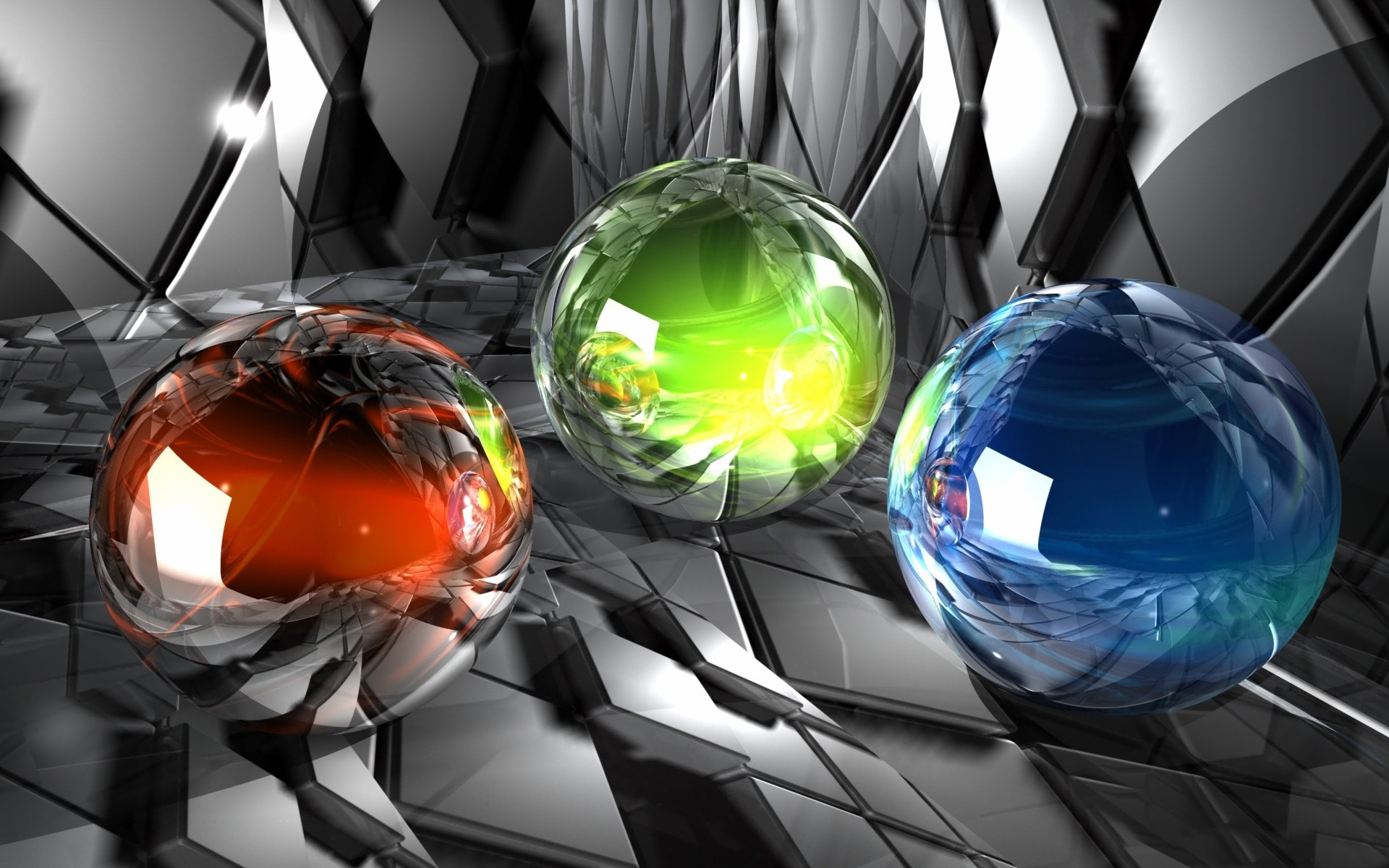 3d colorful glasses ball wallpapers hd / desktop and mobile