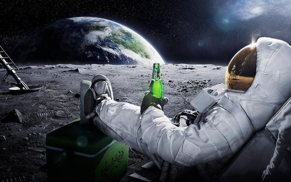 Astronauts Drinking on Moon Wallpapers HD / Desktop and ...