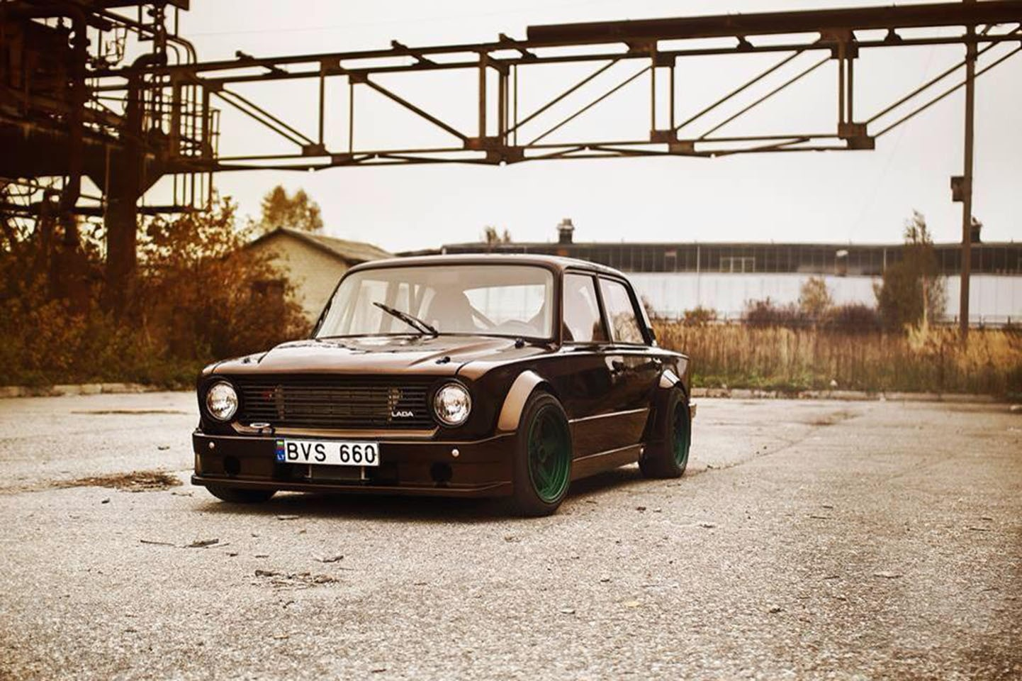 Muscle Cars Old Car Car Drift Evening LADA Wallpapers