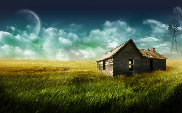 windmills, Shack, Digital Art Wallpapers HD / Desktop and ...