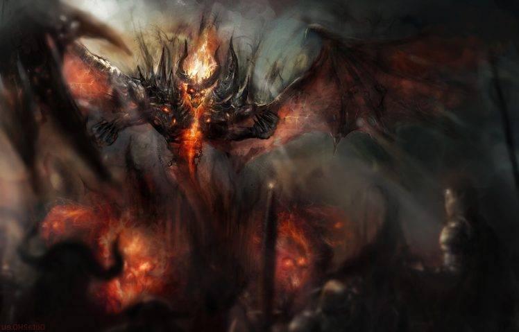 Dota Demon Nevermore Shadow Fiend 2 Wallpapers Hd Desktop