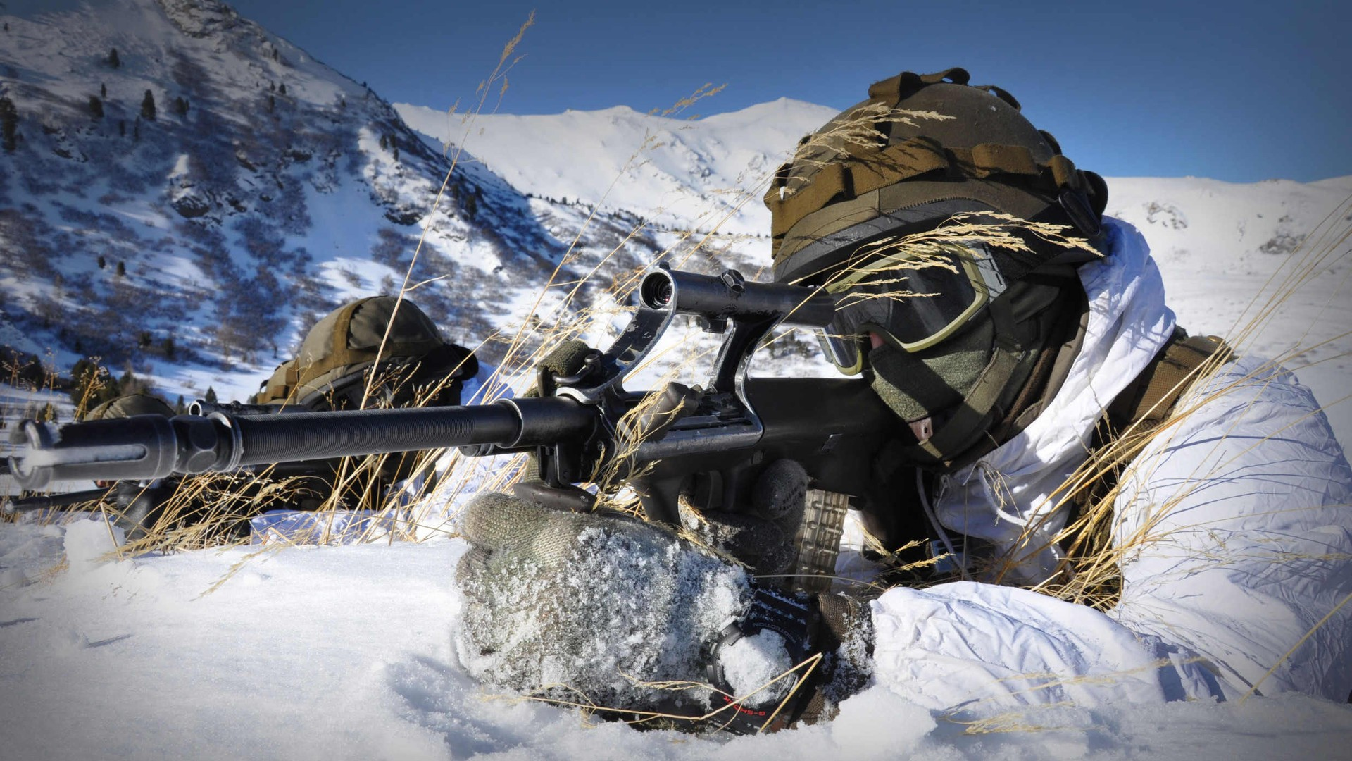 Image result for army at snow mountain