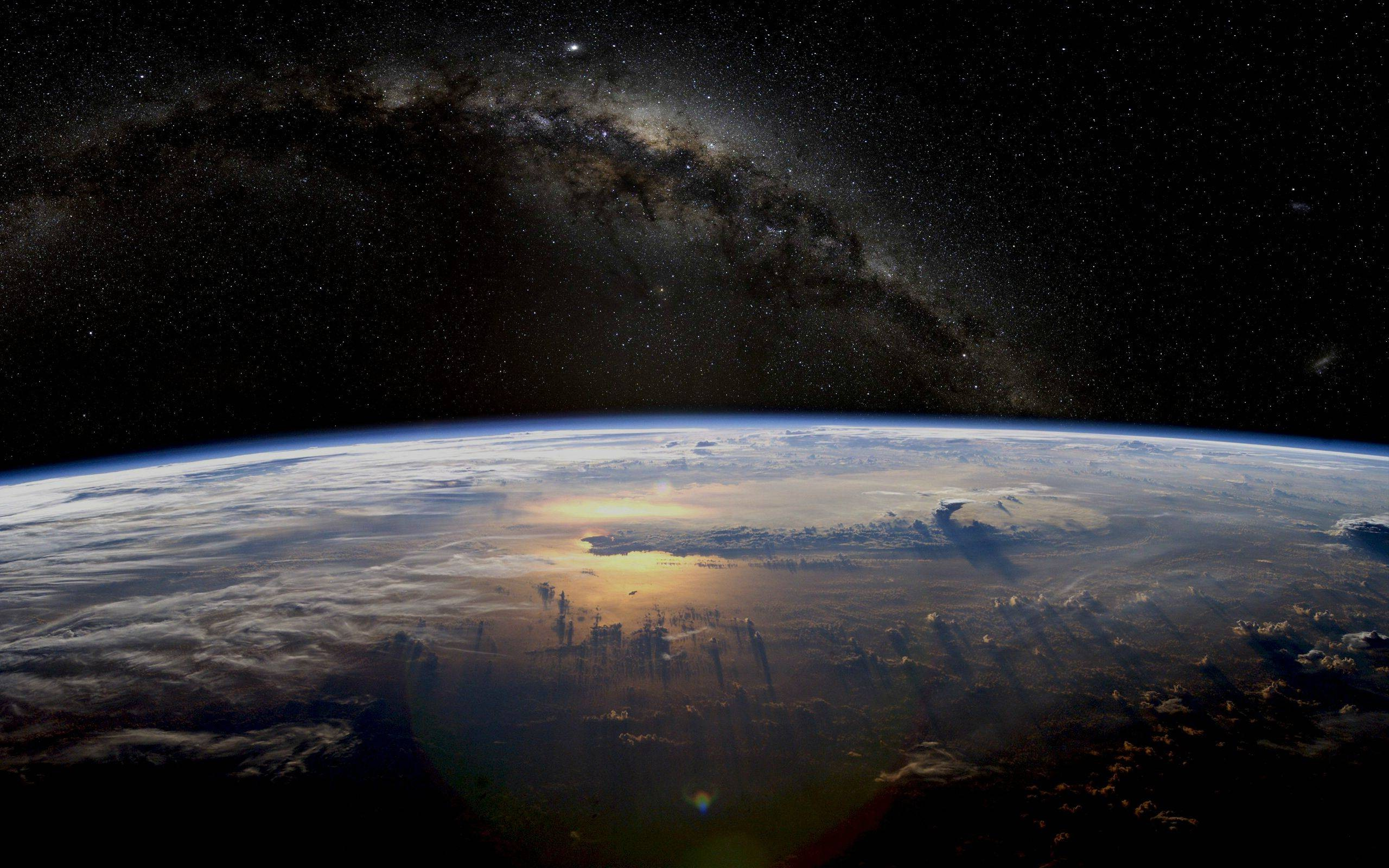 Earth Atmosphere Stars Space Planet Wallpapers Hd