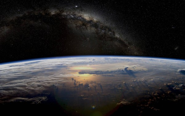 galaxy Earth Milky Way Stars Space Planet Atmosphere