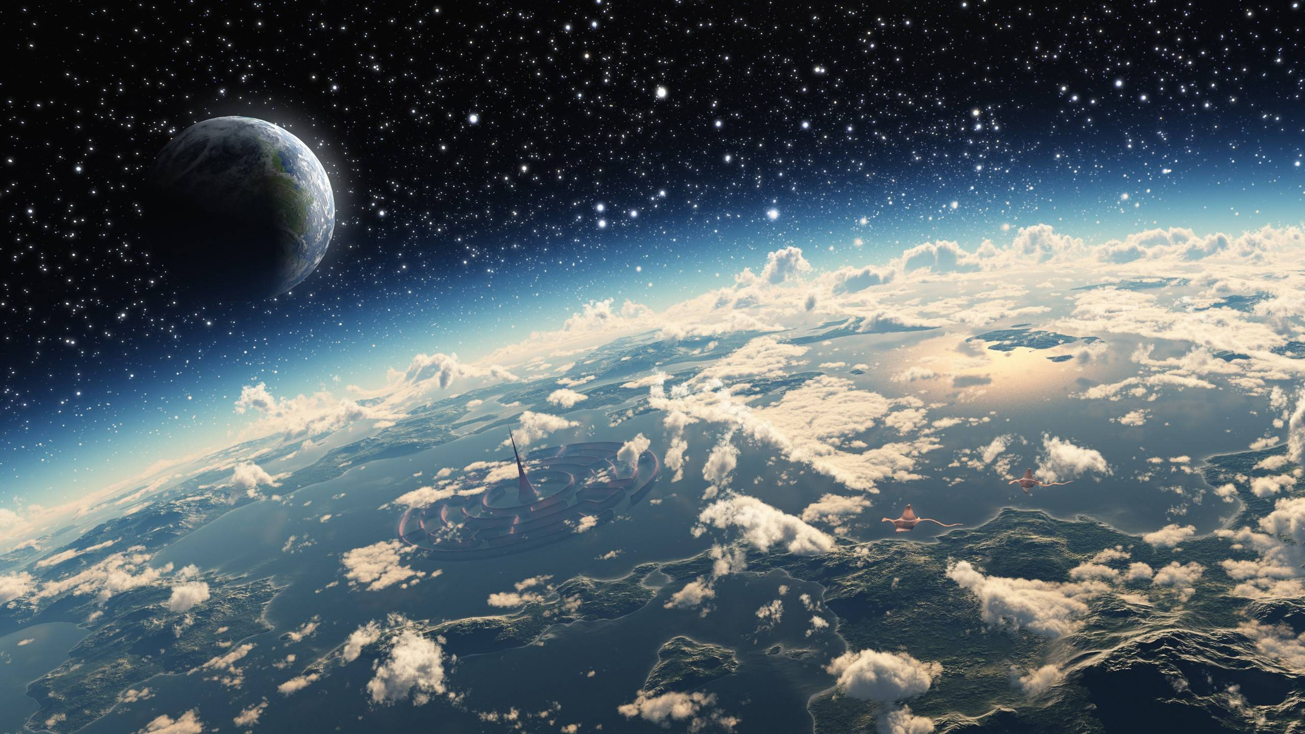 Stars Space Art Planet Clouds Atmosphere Science