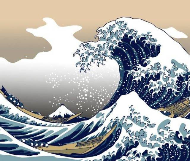 Japanese Wave Art Wallpaper Download Nature Blue The Great Wave Off Kanagawa