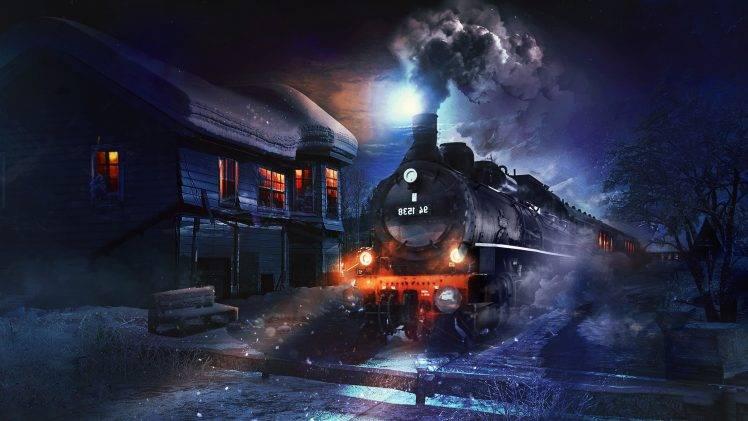 Fantasy Art Artwork Digital Art Steam Locomotive Train