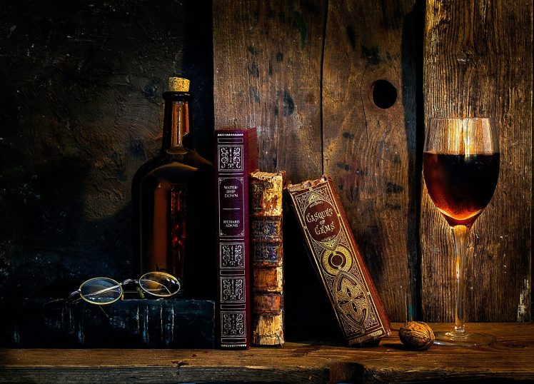 Old Books Wine Glasses Wallpapers HD Desktop And
