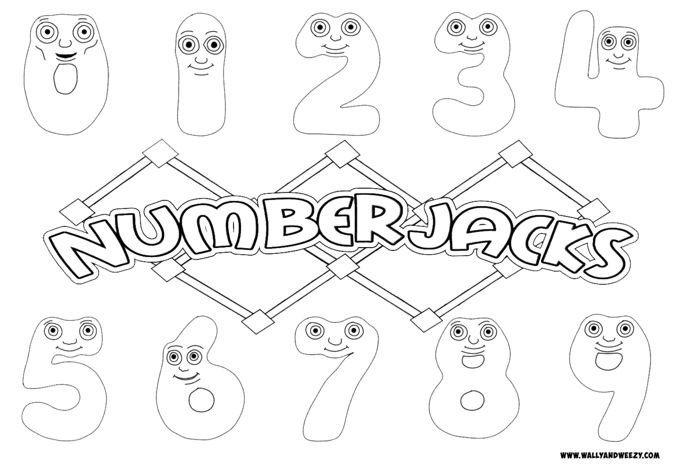 Numberjacks Drawing/Coloring Video and Downloadable