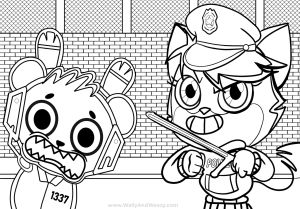 combo panda coloring pages printable | Watch Wally and Weezy color Combo Panda Let's Play Pizza ...