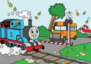 thomas the train coloring