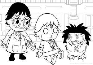 Ryan S Toysreview Coloring Pages Featuring Ryan S World