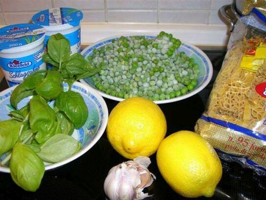 Erbsen Zitronen Soße