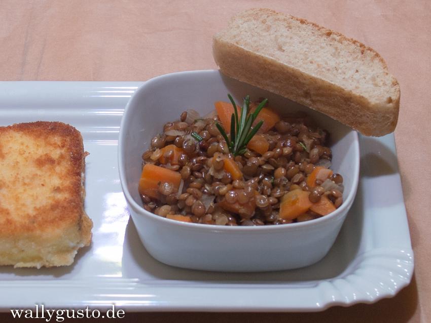 Honiglinsen mit Karotten & Feta
