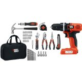 Black & Decker LDX172PK Lithium Drill and Project Kit, 7.2-volt