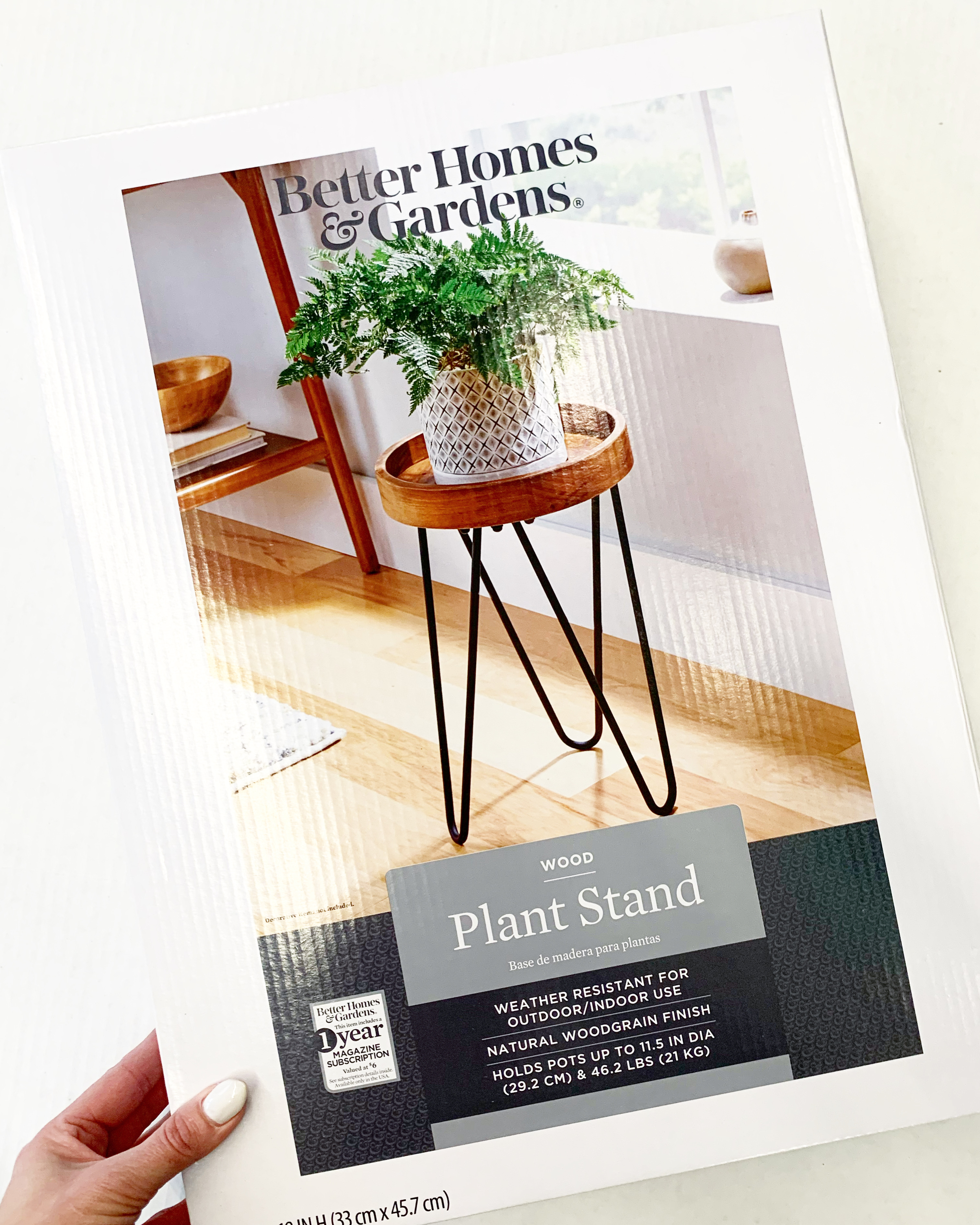 better homes and gardens wooden plant stand