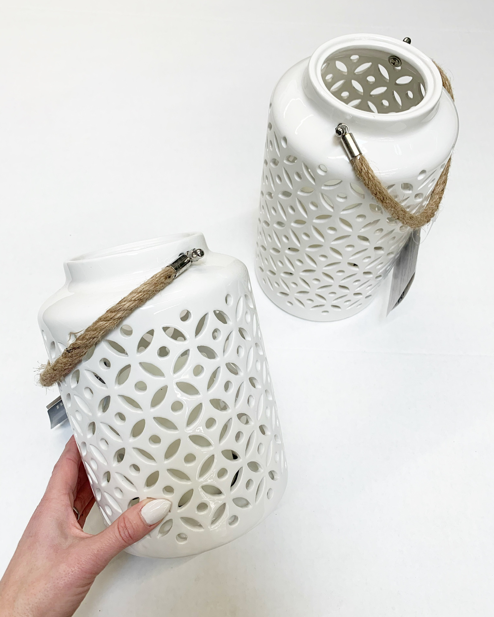 better homes and gardens white ceramic lanterns