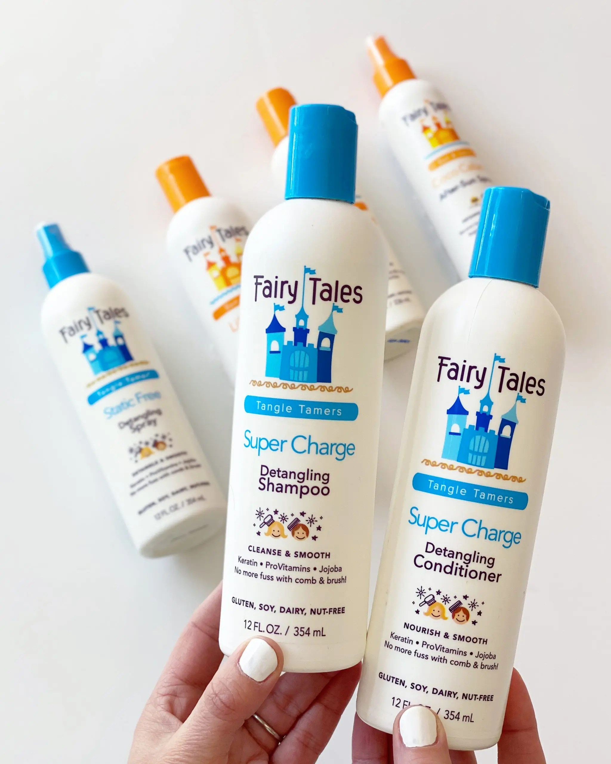 fairy tales tangle tamers and sun & swim shampoo and conditioner