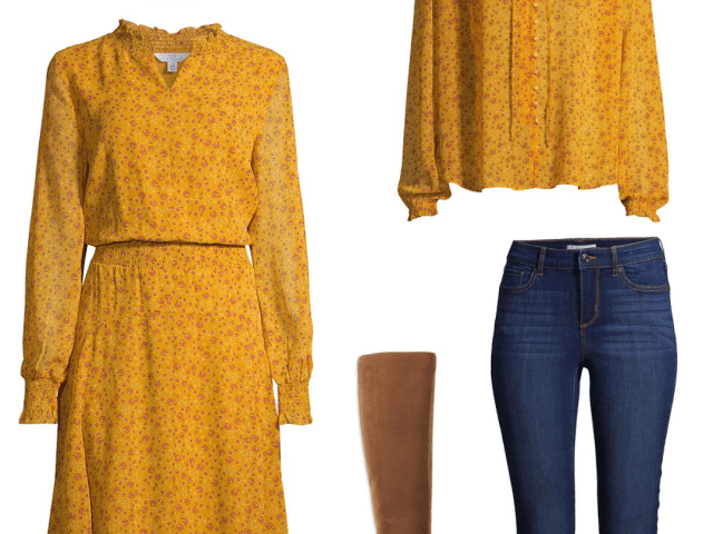 Mustard Yellow Outfit Ideas at Walmart