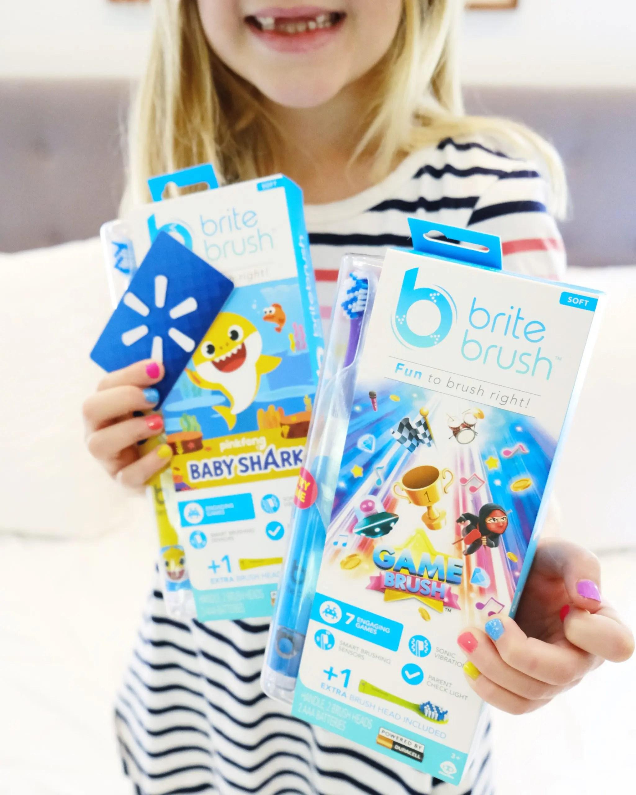 britebrush kids toothbrush - baby shark toothbrush at walmart instagram giveaway