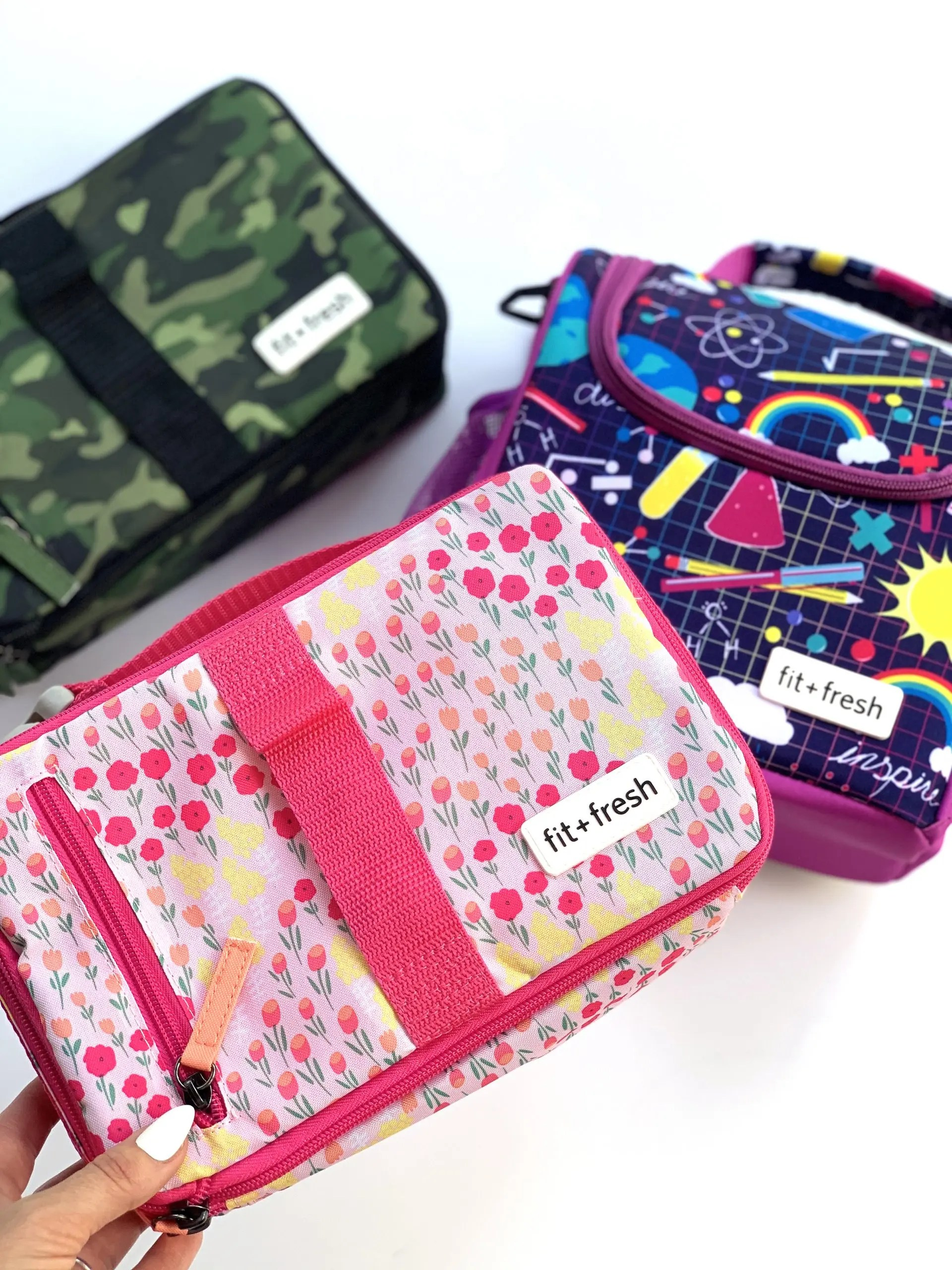 fit + Fresh kids lunch bags with bento box