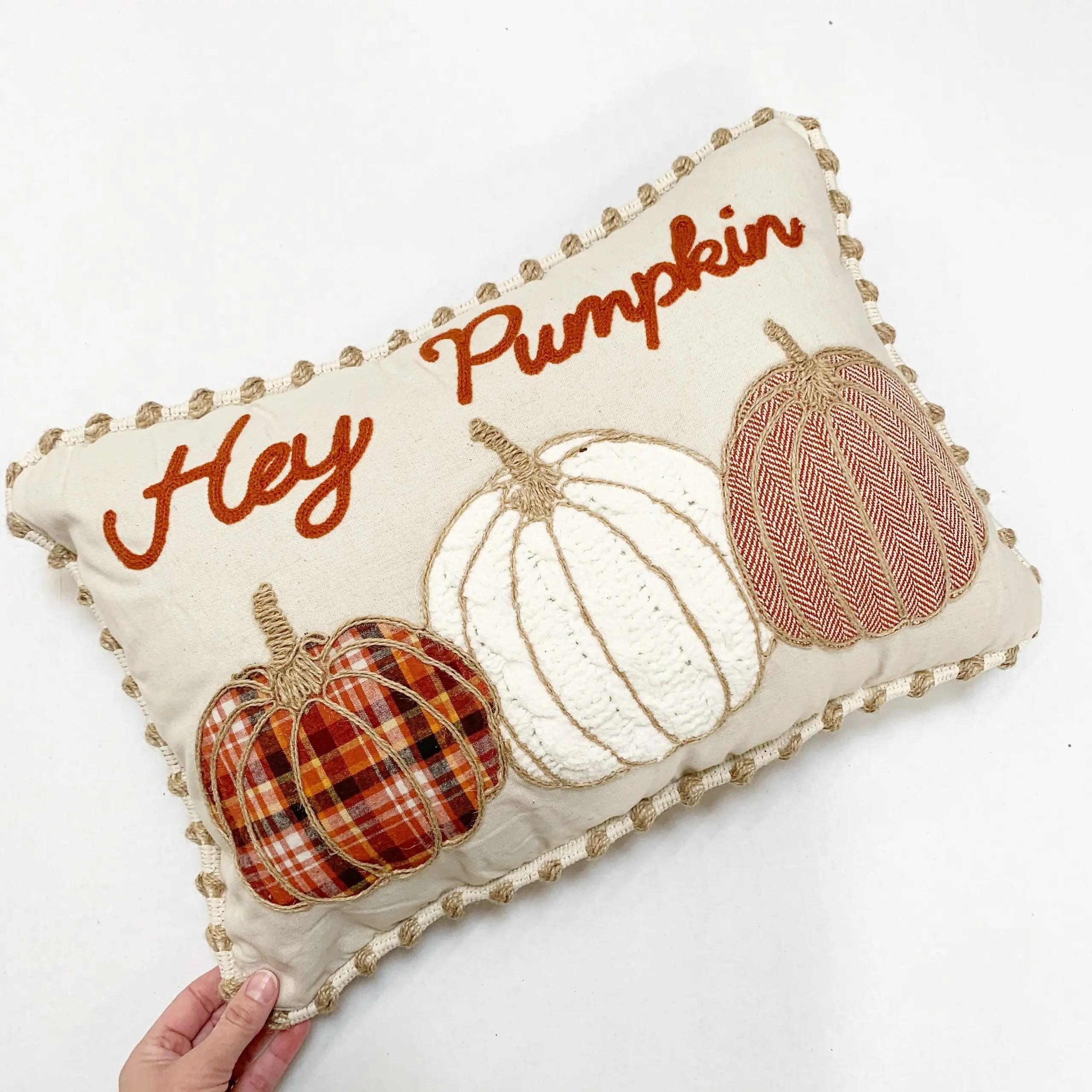 """Mainstays """"Hey Pumpkin"""" Oblong Pillow"""