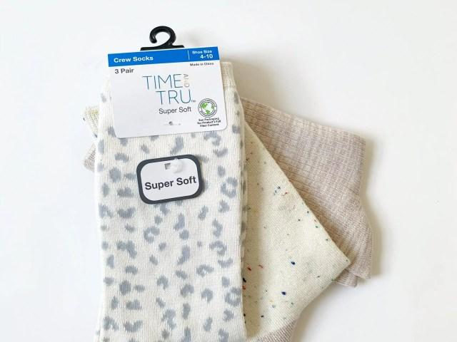Time and Tru Super Soft Crew Socks