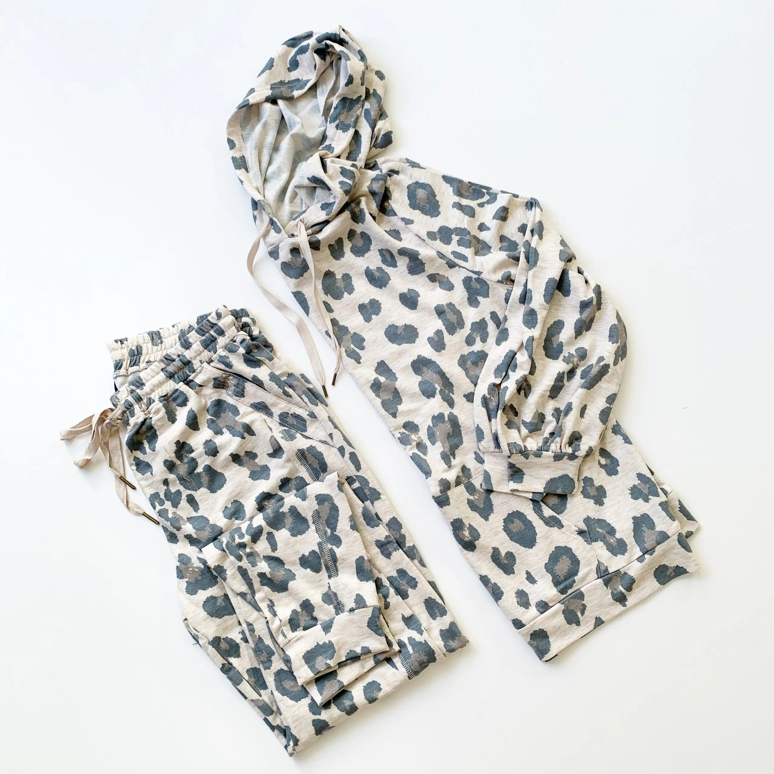 Scoop Animal Printed French Terry Hoodie and Joggers