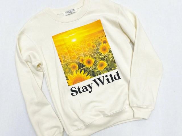 Stay Wild Sunflower Graphic Sweatshirt