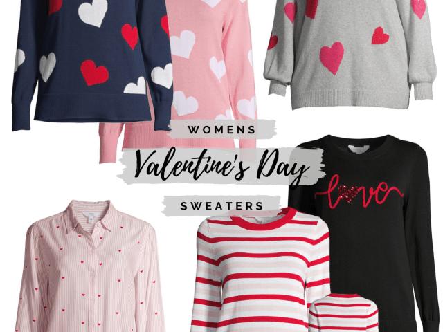 Womens Valentine's Day Sweaters