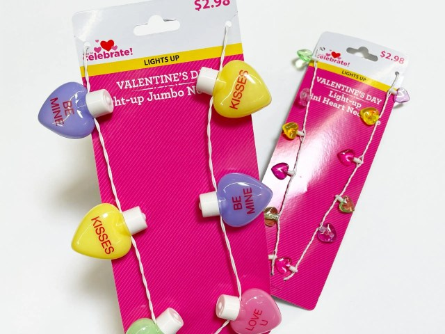 Way to Celebrate Valentine's Day Conversation Heart Necklaces